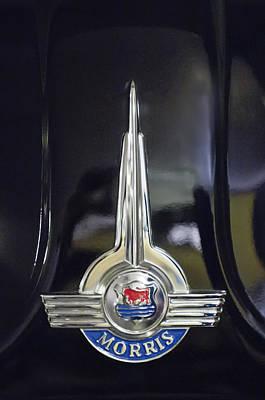 Photograph - 1957 Morris Minor 1000 Traveller Emblem by Jill Reger