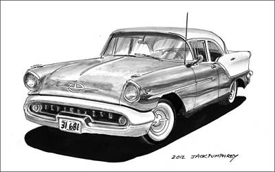 1957 Oldsmobile Super 88 Art Print by Jack Pumphrey