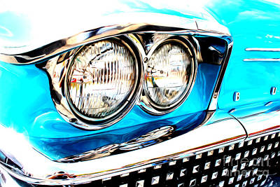 Art Print featuring the digital art 1958 Buick by Tony Cooper