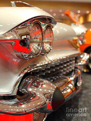 1958 Cadillac Eldorado Biarritz Convertible . Silver . 7d9427 Art Print by Wingsdomain Art and Photography