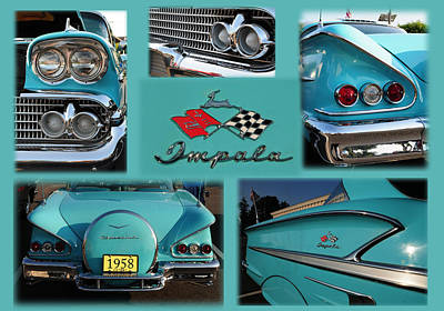1958 Chevy Impala Art Print by Paul Ward
