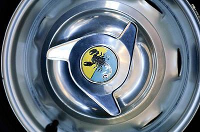 Photograph - 1958 Fiat Abarth 750 Gt Double Bubble Wheel Rim Emblem by Jill Reger