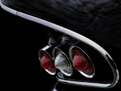 Digital Art - 1958 Impala Tailfin by Douglas Pittman