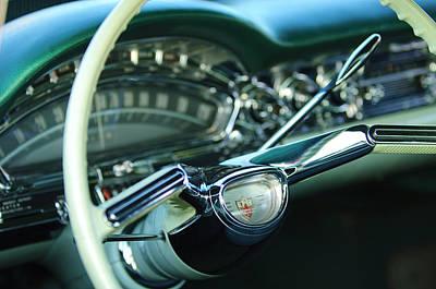 Photograph - 1958 Oldsmobile 98 Steering Wheel by Jill Reger