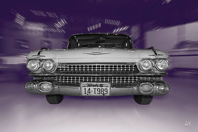 Photograph - 1959 Cadillac by Andrea Kelley