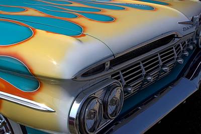 Photograph - 1959 Chevy Flamed Fender by Tim McCullough