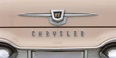 Photograph - 1959 Chrysler New Yorker Emblem by Jill Reger