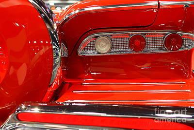1959 Edsel Corsair Convertible . Red . 7d9356 Art Print