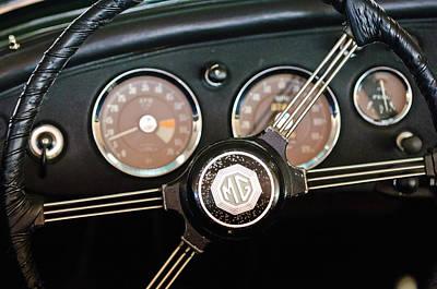 Photograph - 1959 Mg Mga Steering Wheel Emblem by Jill Reger