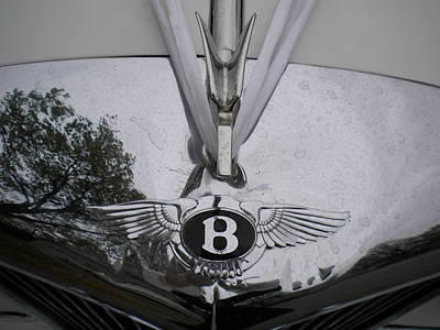 Photograph - 1960 Bentley Hood Ornament And Emblem by Renate Nadi Wesley