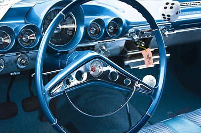 Photograph - 1960 Chevrolet Impala Steering Wheel by Glenn Gordon
