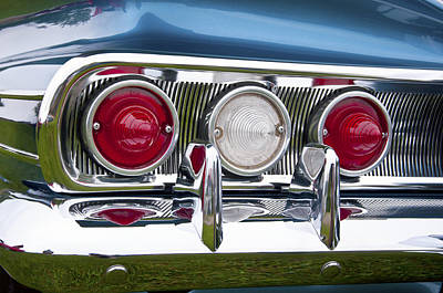 Photograph - 1960 Chevrolet Impala Tail Light by Glenn Gordon
