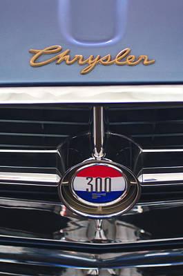 Photograph - 1960 Chrysler 300 F Grille Emblem by Jill Reger