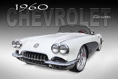 1960 Digital Art - 1960 Corvette by Mike McGlothlen