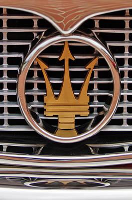 Photograph - 1960 Maserati 3500 Gt Coupe Emblem by Jill Reger