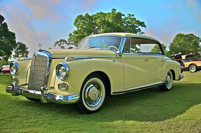 1960 Mercedes 300 Hardtop Sedan Art Print by Mike  Capone