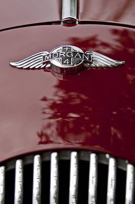 Photograph - 1960 Morgan Plus Four Drophead Coupe Hood Emblem by Jill Reger