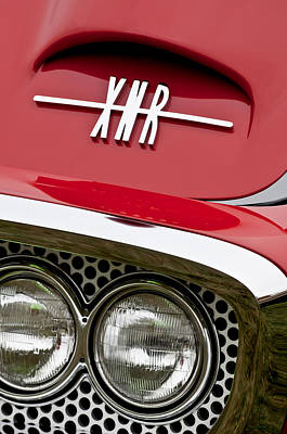 Photograph - 1960 Plymouth Xnr Ghia Roadster Grille Emblem by Jill Reger