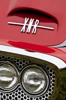 1960 Plymouth Xnr Ghia Roadster Grille Emblem Art Print by Jill Reger