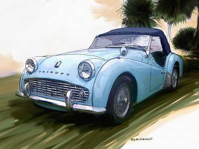 1960 Triumph Tr3 Art Print by RG McMahon