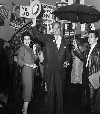 Lyndon Photograph - 1960 Vice Presidential Campaign. Lyndon by Everett