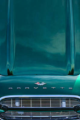 Photograph - 1961 Chevrolet Corvette Hood-grille by Jill Reger