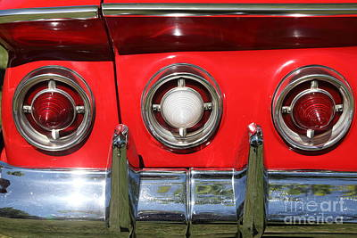1961 Chevrolet Impala Ss Tail Lights . 5d16269 Art Print by Wingsdomain Art and Photography