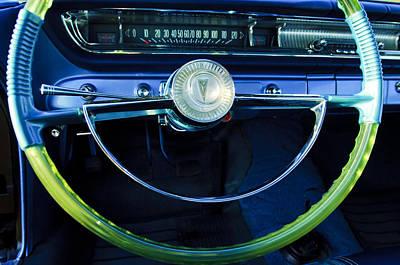 Pontiac Catalina Wall Art - Photograph - 1961 Pontiac Catalina Steering Wheel  by Jill Reger