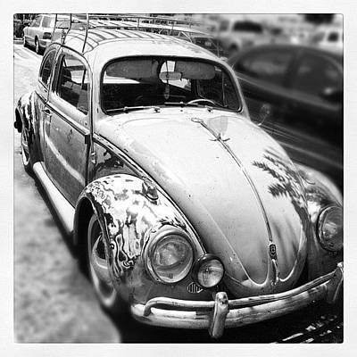 Car Photograph - 1961 Volkswagon Beetle by Gwyn Newcombe