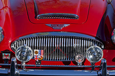 Photograph - 1962 Austin-healey 3000 Mkii Grille by Jill Reger
