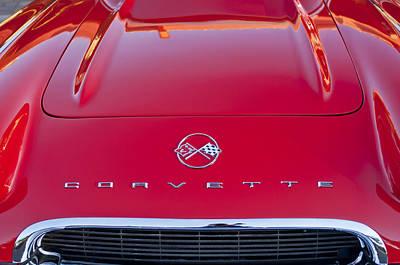 Photograph - 1962 Chevrolet Corvette Hood Emblem by Jill Reger