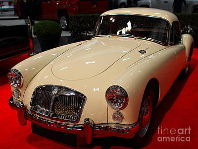 1962 Mg A 1600 Mark II Coupe . Vanilla White . 7d9325 Print by Wingsdomain Art and Photography