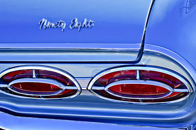 Photograph - 1962 Oldsmobile 98 Taillights by Jill Reger