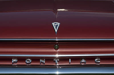 Photograph - 1962 Pontiac Emblem by Jill Reger