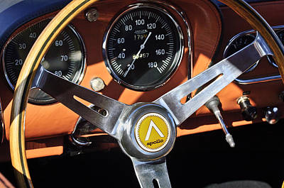 Photograph - 1963 Apollo Steering Wheel 2 by Jill Reger