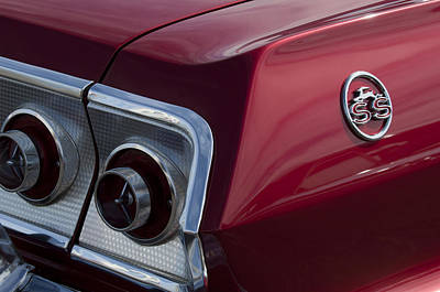 Photograph - 1963 Chevrolet Impala Ss Emblem And Taillight by Jill Reger