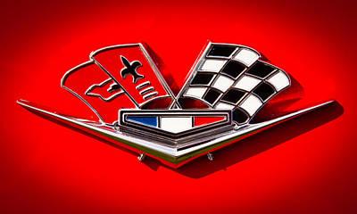 1963 Chevy Corvette Emblem Art Print by David Patterson