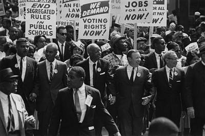1963 March On Washington. Civil Rights Print by Everett