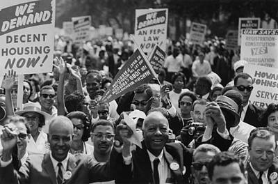 1963 March On Washington. Close-up Art Print by Everett