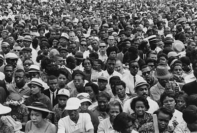 1963 March On Washington-faces Print by Everett