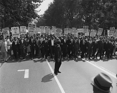 1963 March On Washington. Famous Civil Print by Everett