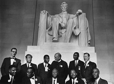 1963 March On Washington. Leaders Print by Everett