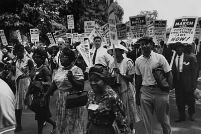 1963 March On Washington. Marchers Print by Everett