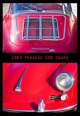 Photograph - 1963 Red Porsche S90 Coupe Poster by James BO Insogna