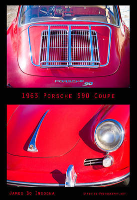 Photograph - 1963 Red Porsche S90 Coupe Poster S by James BO Insogna