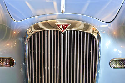 Photograph - 1964 Alvis Te21 Series IIi Drophead Coupe Grille Emblem by Jill Reger
