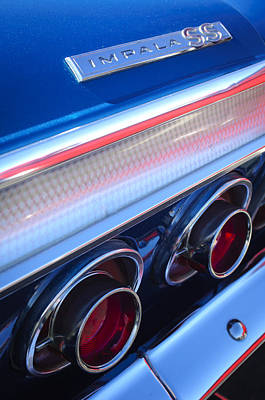 Photograph - 1964 Chevrolet Impala Ss Taillight by Jill Reger
