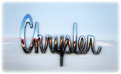 Photograph - 1964 Chrysler Emblem  by Saija  Lehtonen