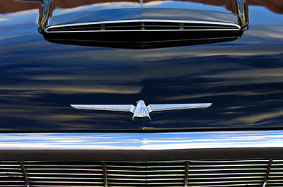 1964 Ford Emblem Photograph - 1964 Ford Thunderbird Hood Emblem by Jill Reger