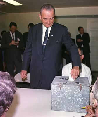 1964 Presidential Election. Lyndon Print by Everett